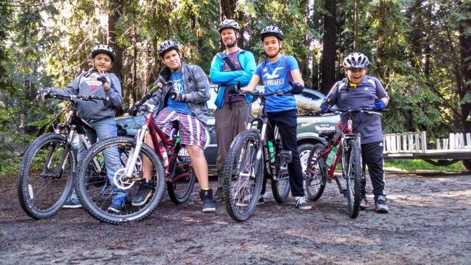Kids from Earn-A-Bike program explore the Forest of Nisene Marks