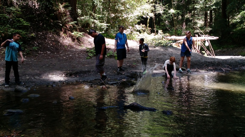 Checking out Aptos Creek in the Forest of Nisene Marks